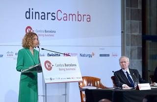 Dinar Cambra Meritxell Batet, 9/4/2019   by Press Cambrabcn