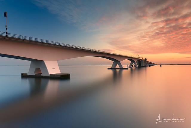 Zeeland Bridge Sunset I