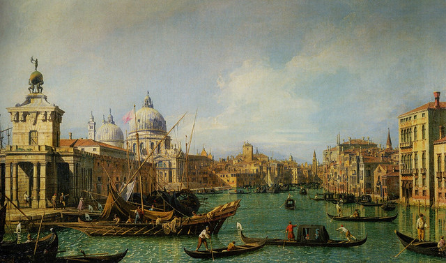 Canaletto - The Mouth of the Grand Canal looking West towards the Carita, 1730 - Canaletto and the Art of Venice Exhibit at National Gallery of Ireland Dublin Ireland