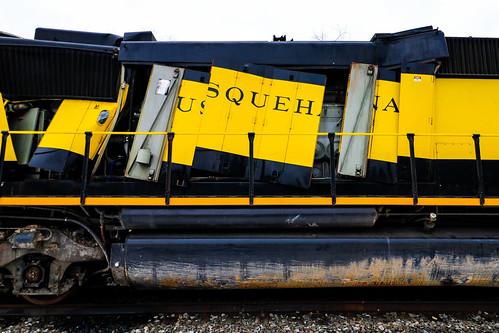 newyorksusquehannaandwestern nysw railroad susquehanna centralnewyork cnyk railway erie norfolksouthern ns southerntier line deposit newyork state emd sd60 3800 3806