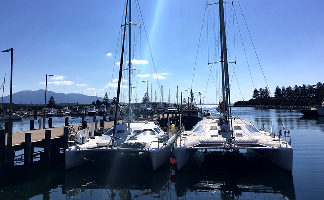 Rafted up with GonYonda at Bermagui