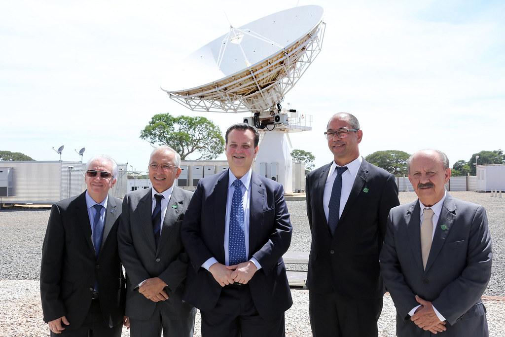 17/12/2018. Brasília-DF. Ministro Gilberto Kassab, participa de inauguração do COPE-P (Centro de Operações Espaciais Principal). Foto: Bruno Peres/MCTIC.