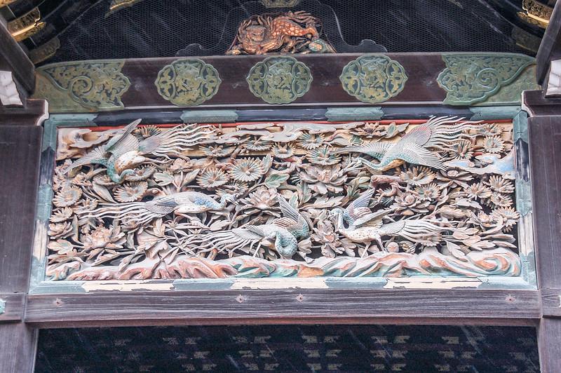二之丸御殿玄関的雕刻