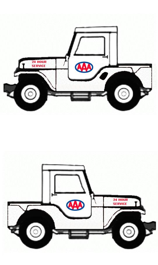 1965 jeep cj5 half cab utility  aaa service truck  1960s