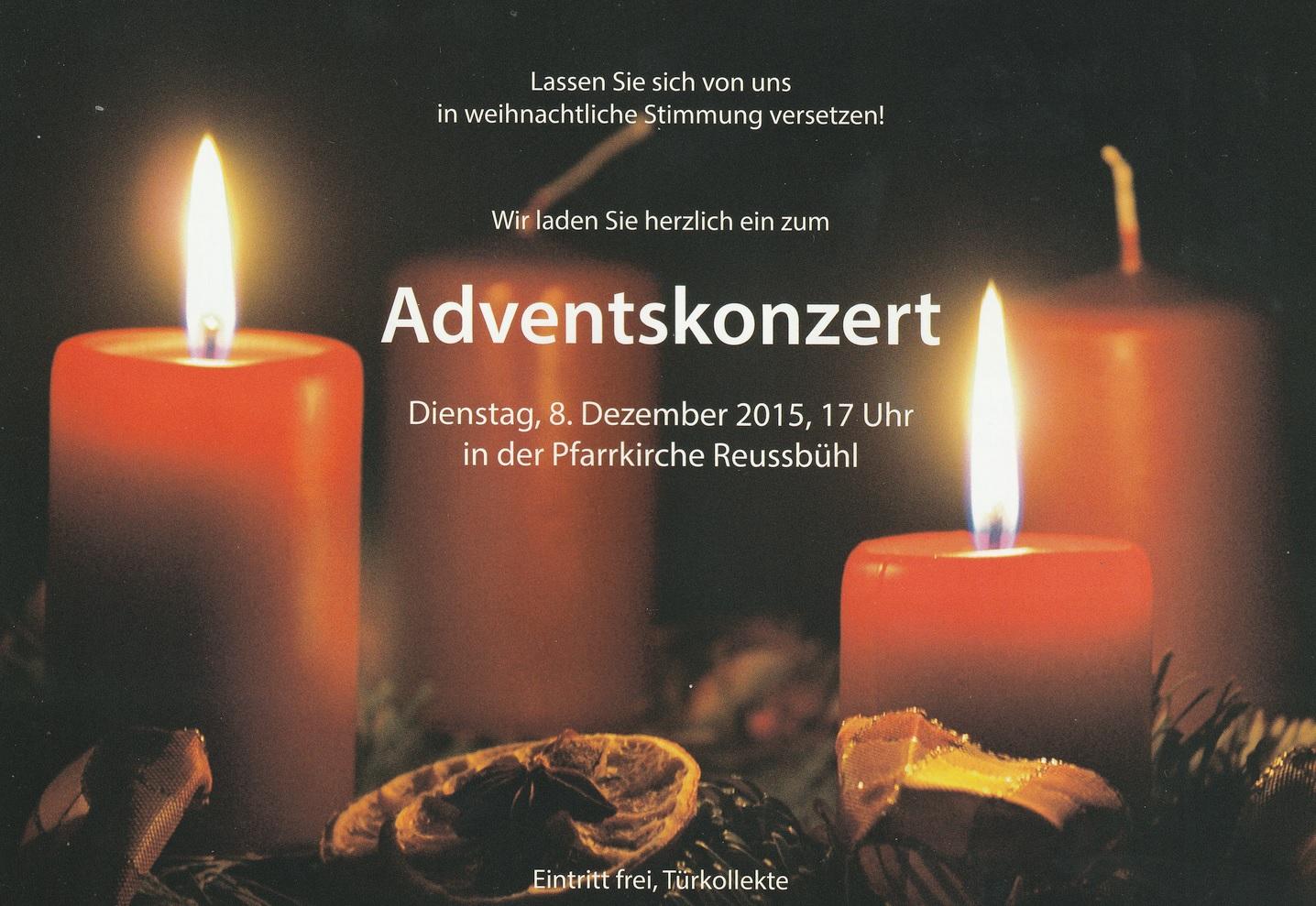 Adventskonzert in der Pfarrkirche Reussbühl (08.12.2015)