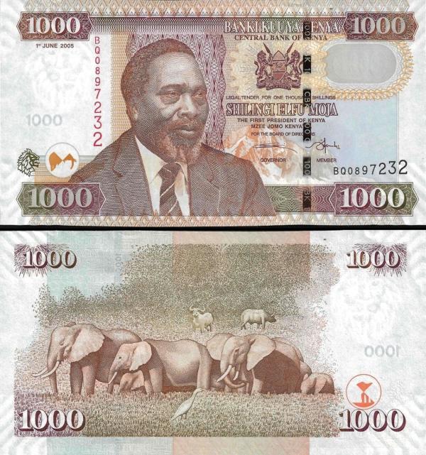1000 Šilingov Keňa 2005, P51a