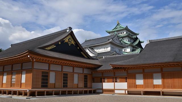 ✪名古屋城の本丸御殿から天守を望む