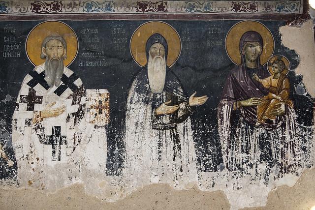 Saint Sava of Serbia, Saint Simeon Nemanja and the Holy Virgin with infant Christ
