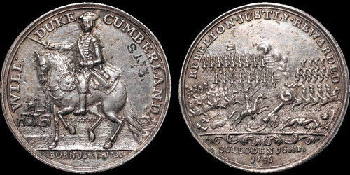 Jacobite Rebellion Battle of Culloden medal | by Numismatic Bibliomania Society