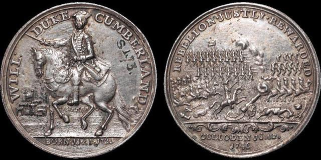 Jacobite Rebellion Battle of Culloden medal