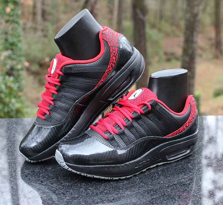 f38826329a7a ... Air Jordan CMFT Viz Air Max 11 Black Red White 444905-008 Men s Size 8.5