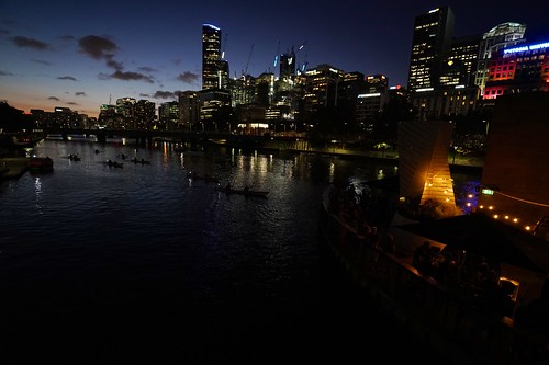 Night kayakers on the Yarra River, Melbourne | by Joe Lewit