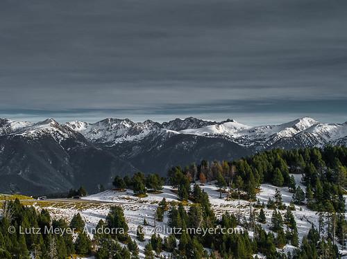 Andorra camis & rutes: Escaldes-Engordany & Andorra la Vella parroquies mountain landscape: Altitude 2000+ collection. View from La Massana, Vall d'Orient, Andorra
