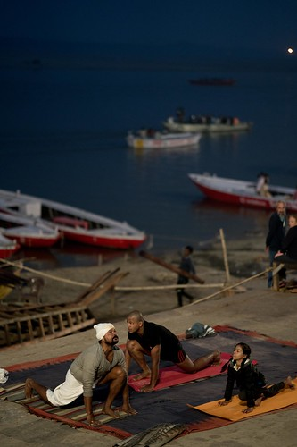 On the ghats of Varanasi   by A. adnan
