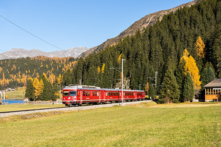 Be 4/4 511, Davos Wolfgang - Davos Dorf, 31.10.2015