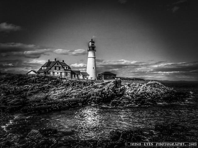 Portland Headlight on a cool spring day. Cape Elizabeth, Maine