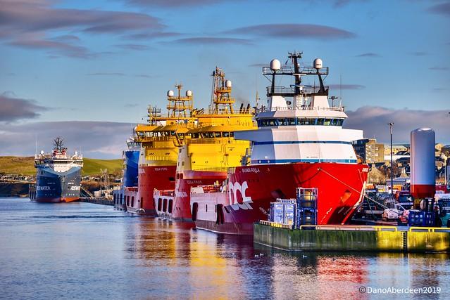 Edda Fram - Aberdeen Harbour Scotland - 7/2/2019