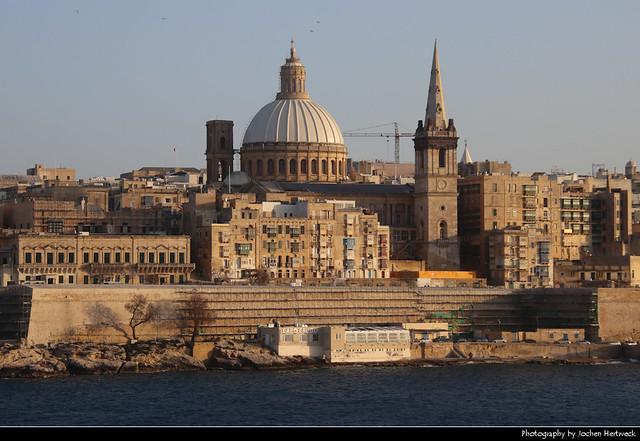Valletta seen from Tigne Point, Sliema, Malta