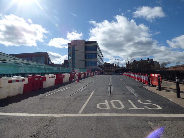 Wolverhampton Metro extension over the Railway Drive bridge