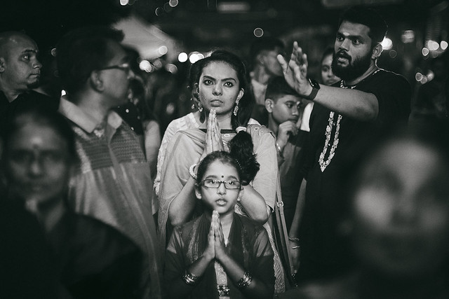 Hindu Mother and child during the Thaipusam religious festival, kuala lumpur