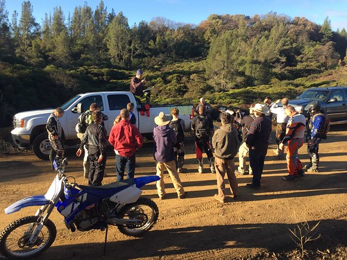 Safety briefing at South Cow Mountain OHV Management Area