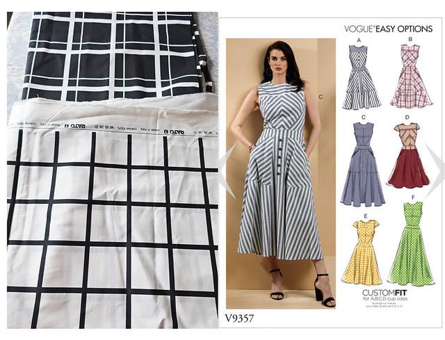 Vogue check dress fabric