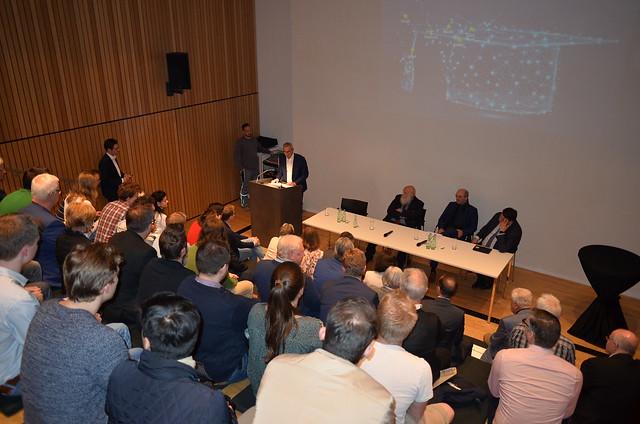 Diskussion zur grenzüberschreitenden Hochschulzusammenarbeit am 8. April 2019 im Centre Charlemagne in Aachen