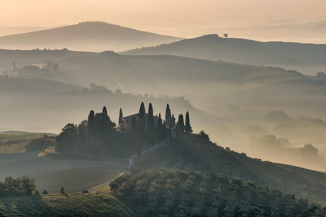*Morning magic at the Podere Belvedere*