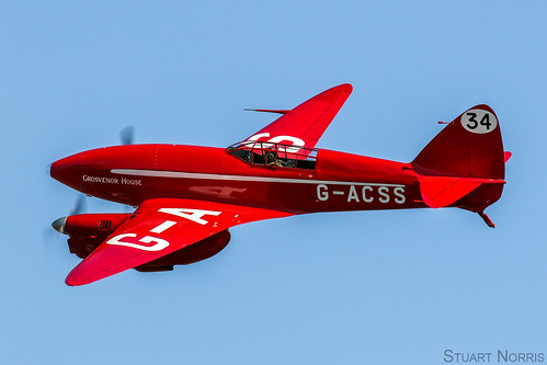 """DH.88 Comet G-ACSS """"Grosvenor House """" - The Shuttleworth Collection Old Warden"""