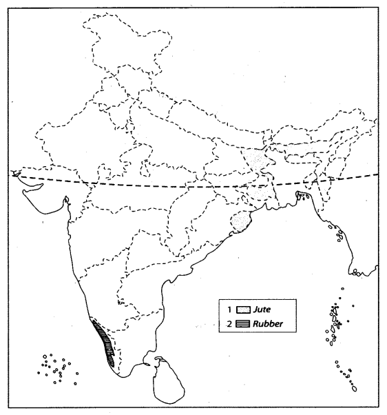 Class 10 Geography Map Work Chapter 4 Agriculture A5