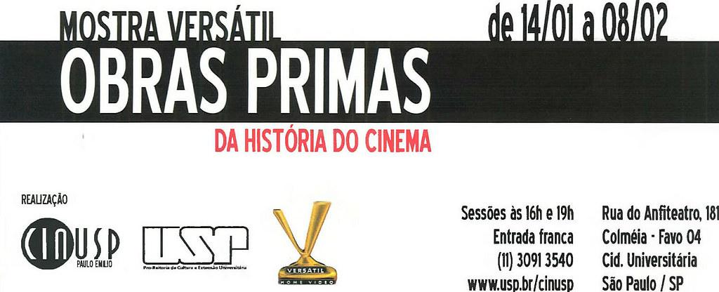 Versátil no CINUSP: Obras-primas da História do Cinema