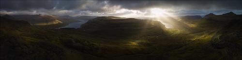 landscape landschaft faroeislands färöer autumn sunrise sun light clouds panorama dennispolkläser dpphotography streymoy dji mavicpro drone
