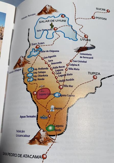 Our ways from (road trip) Uyuni, Bolivia to San Pedro de Atacama, Chile.