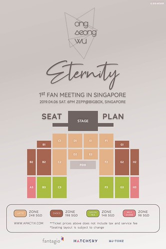 Ong Seong Wu Eternity in SG Seating Plan | by sgXCLUSIVE