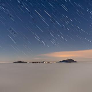 Rigi star trails and sea of fog | by lukas schlagenhauf