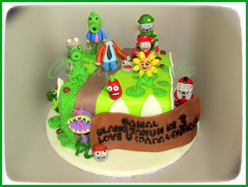 Cake Plants vs Zombie GAMAL 15 cm