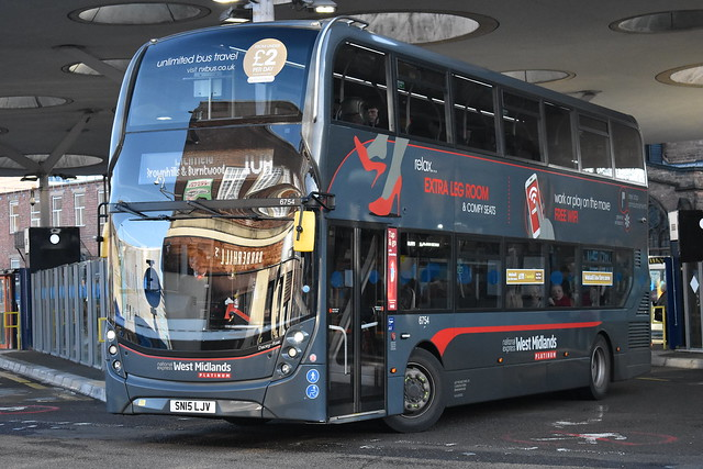 'National Express West Midlands' Alexander Dennis Enviro 400MMC '6754, Dacey Rae' (SN15 LJV)