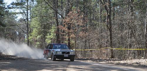 100aw 100 acre woods rally missouri race car tresspassers wil 1990 volvo 240 515motorsport justin mason alexandra hutchings 515 dust road trees