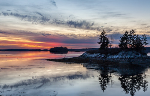 harpswell lookoutpoint mainesunsetsundown dusk reflections