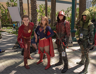 Flash, Supergirl, Arsenal and Green Arrow at WonderCon 2019