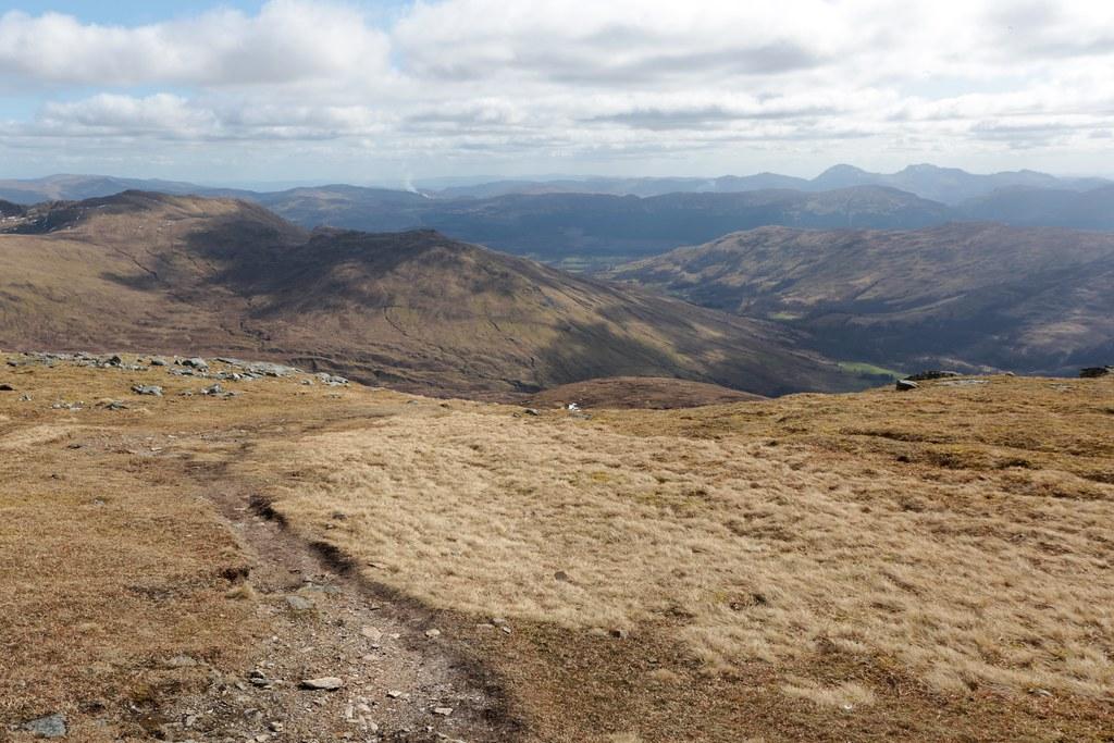 Descent of Meall Ghaordaidh