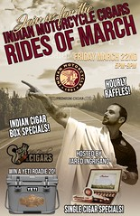 Indian Motorcycle Cigars-Rides of March. Smoke Inn Cigars, Vero Beach