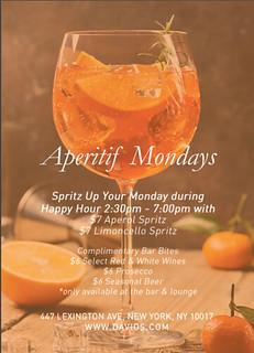 Davio's Apertif Mondays flyer | by sociallysuperlative1@yahoo.com