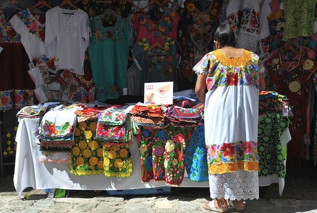 Yucatan Textiles Mexico Huipil Hipil Oaxaca