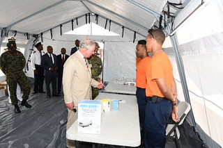 The Prince of Wales tours field medical facility (4) | by barbadosgovernmentinformationservice