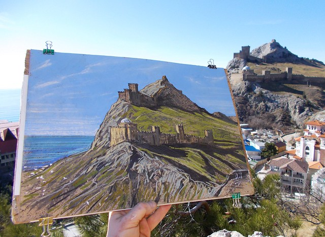 2017.02.28 - drawing THE GENOESE FORTRESS IN SUDAK