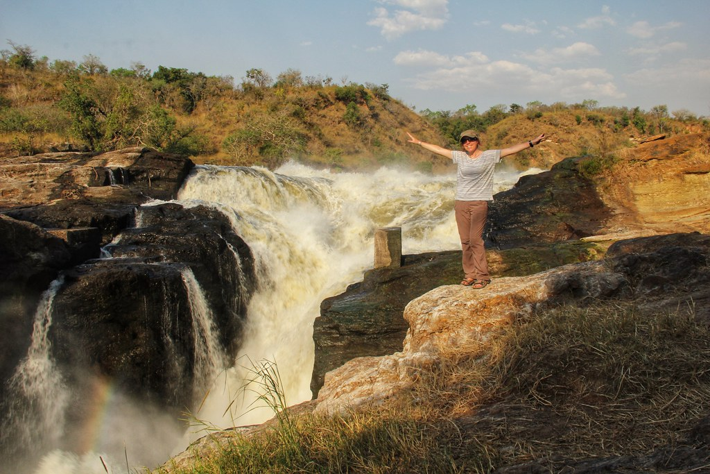Me at the top of Murchison Falls, Uganda