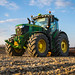 Planting potatoes with John Deere 6250R