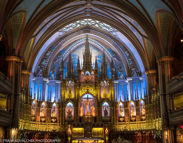 Basilica Notre-Dame in Montreal