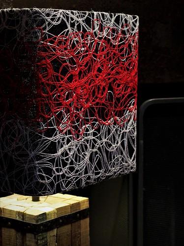 Lampe chalet-vieux bois-laine-fil-Jade Creation-450x600